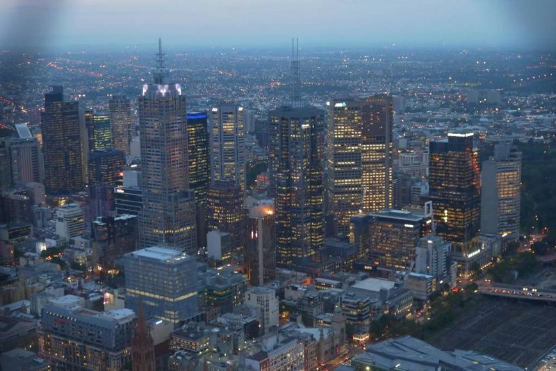 View of Melbourne from the Skydeck