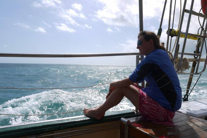 Amy Sailing the Whitsundays, Australia