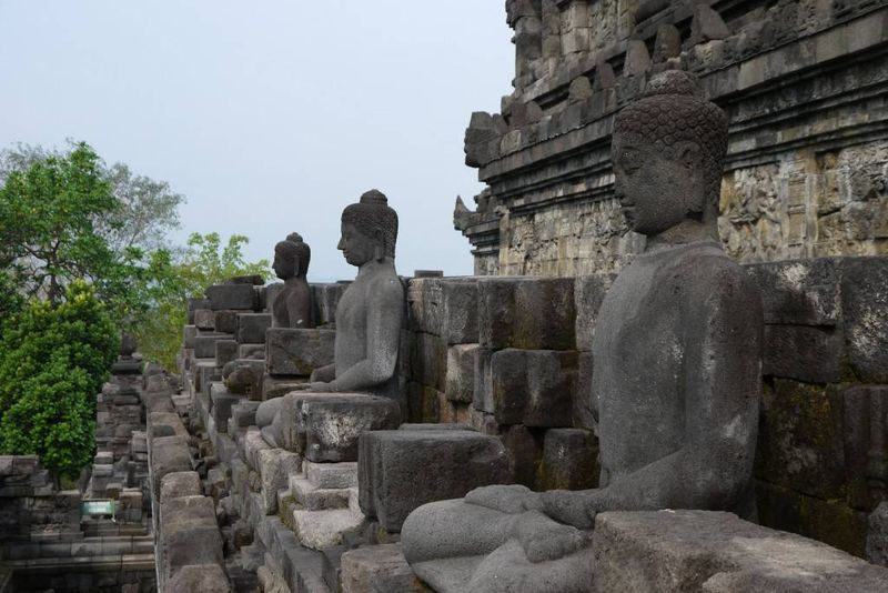 Buddha Statues at Borobudur Temple, Indonesia