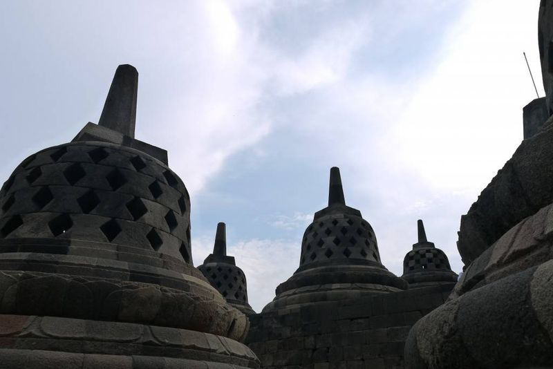 Top of Borobudur Temple, Java Indonesia