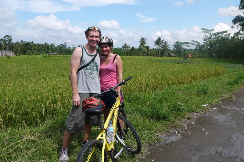 Us on the Bali Eco Cycling Tour