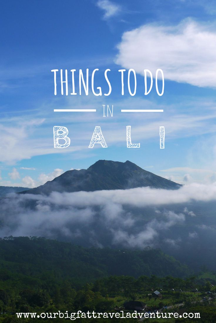 things to do in Bali Pinterest pin