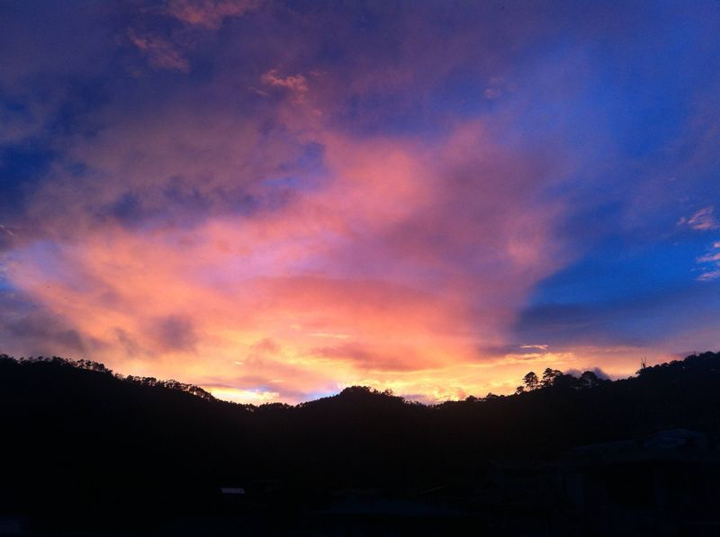 Sunset in Sagada, the Philippines