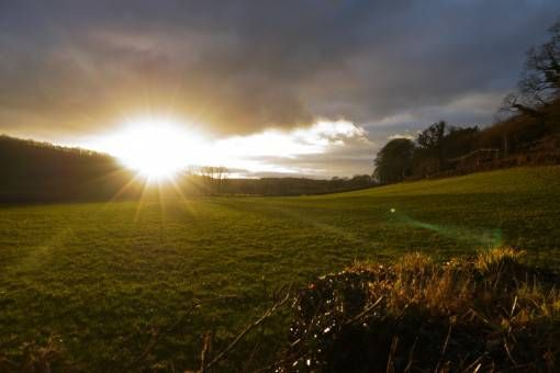 Sunset in Brechfa, Wales