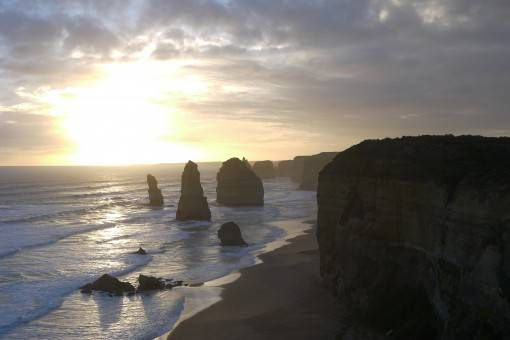 Sunset over the Great Ocean Road, Australia