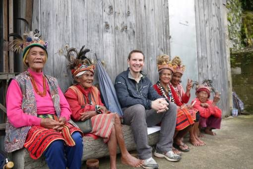 Andrew with Locals in the Philippines