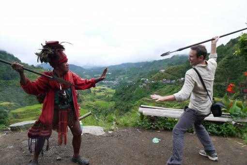 Spear Throwing in Banaue, the Philippines