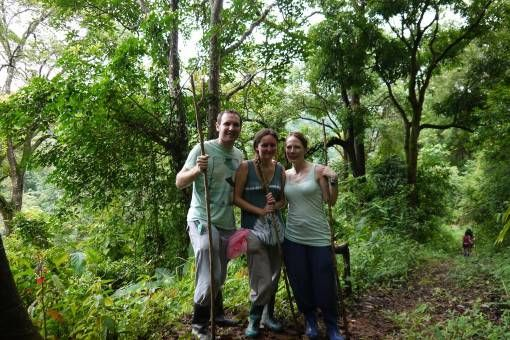 Trekking in Thailand with my friend Jo