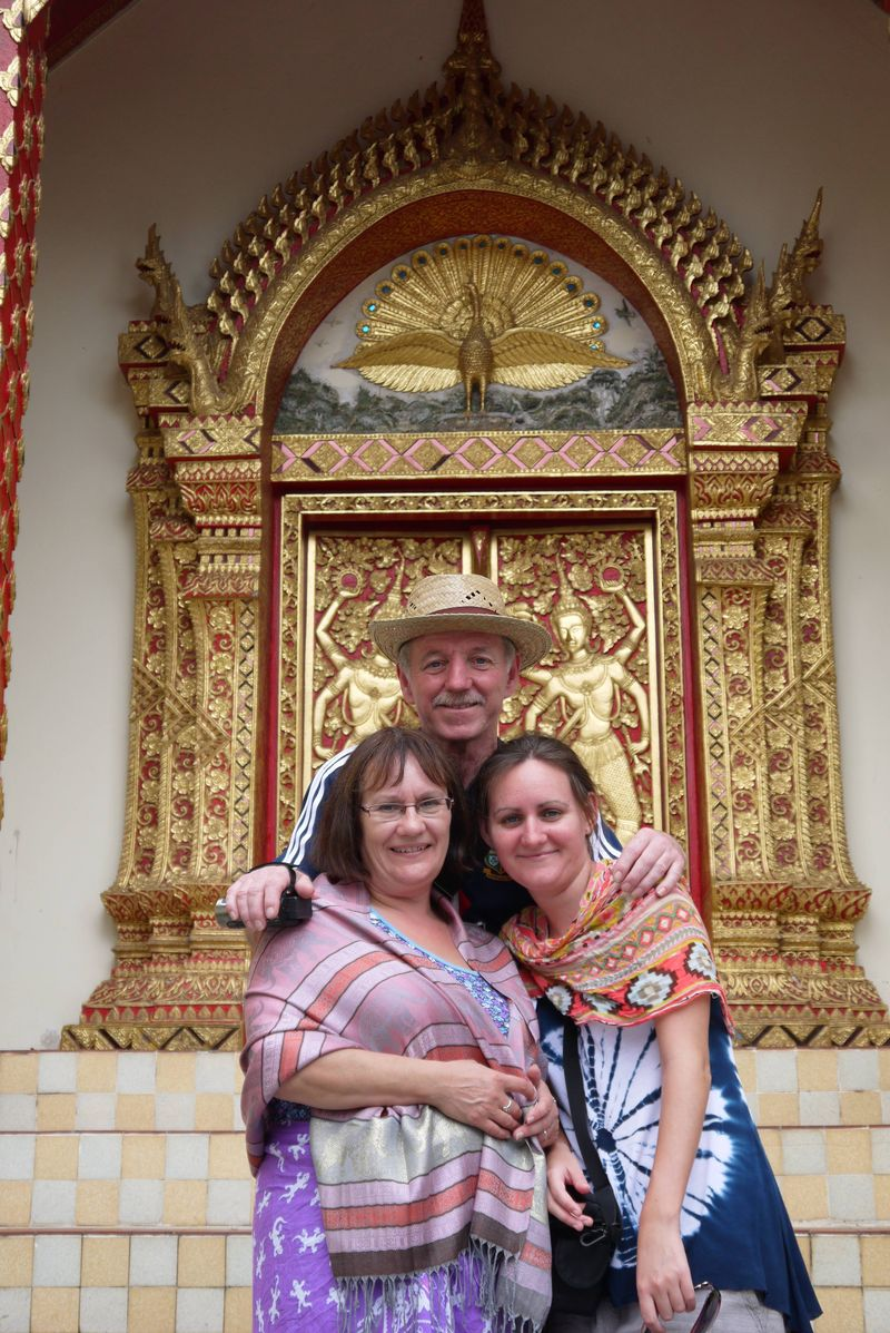 My Parents and I at Doi Suthep