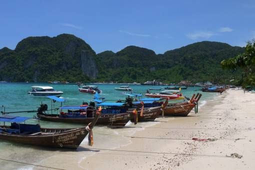 Boats on Phi Phi, Thailand
