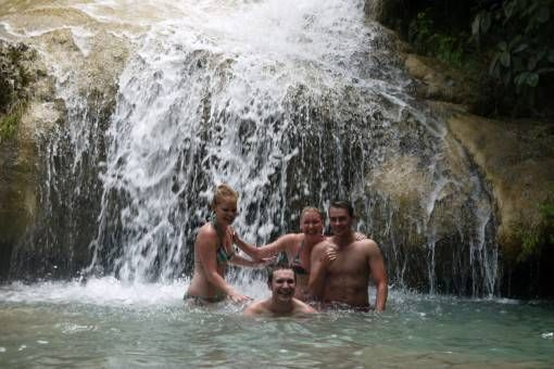 Andrew & Sisters at Erawan Waterfall