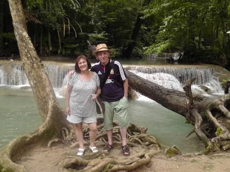 My Parents at Erawan National Park