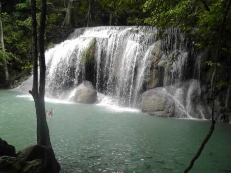 Second Tier at Erawan Waterfall, Thailand