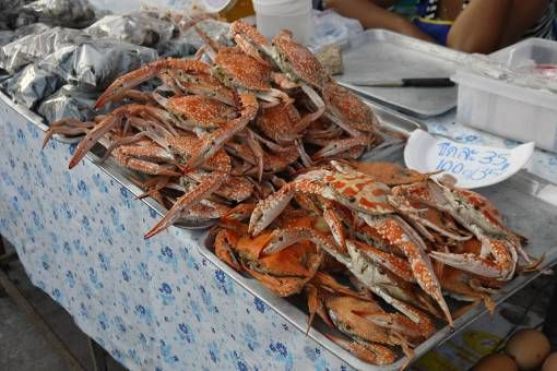 Crabs at Bophut market