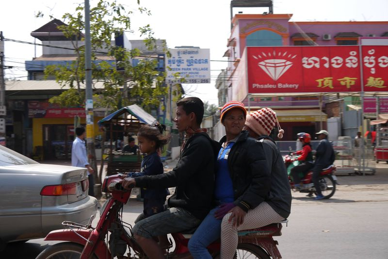 Family on a Motorbike in Asia