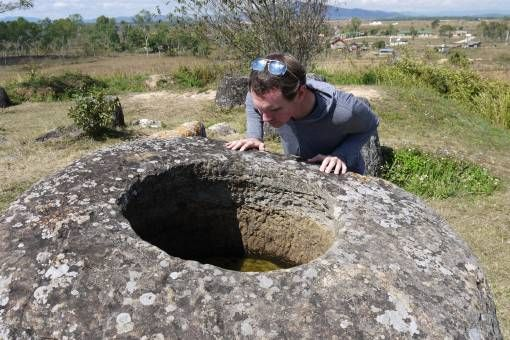 Andrew at the Plain of Jars