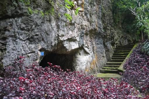 Entrance to the Vieng Xai Caves