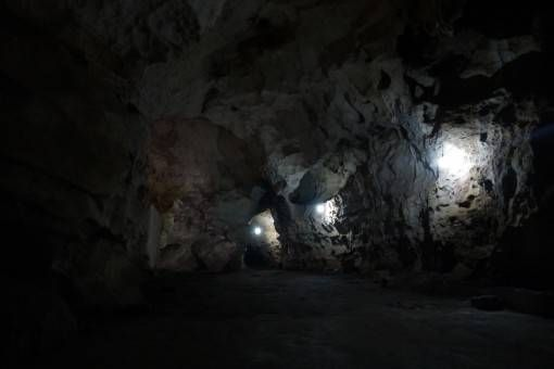 Tunnels in the Vieng Xai Caves