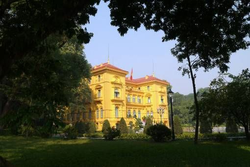 The Presedential Palace in Hanoi