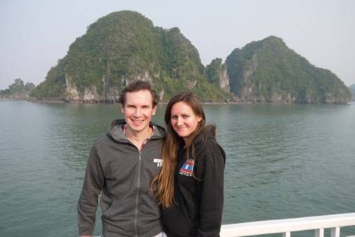 Us in Halong Bay, Vietnam