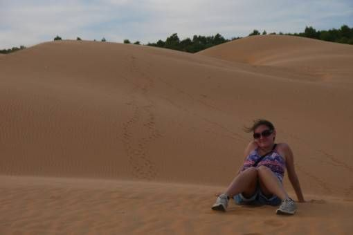 Amy on the Red Sand Dunes