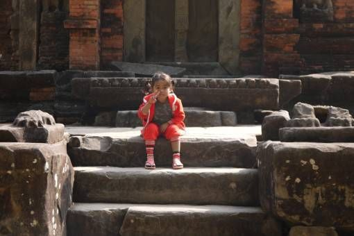 Cambodian Girl at Angkor Wat