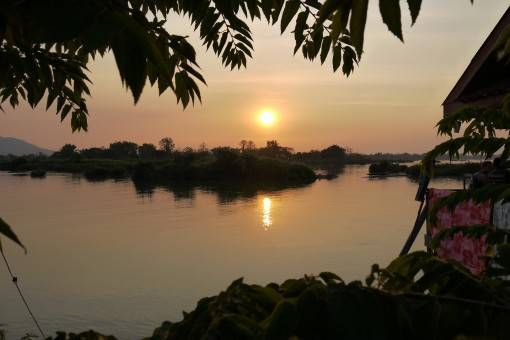 Sunset in Don Det, Laos