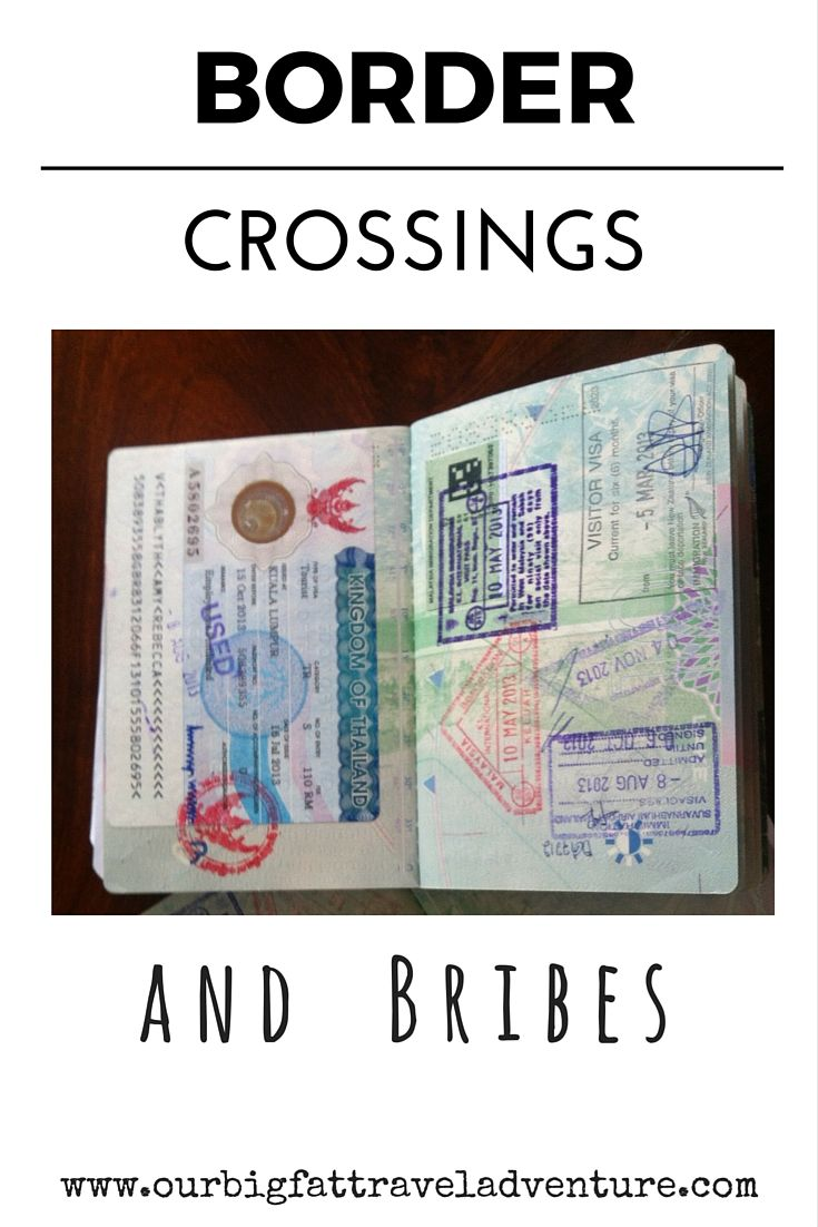 Border crossings and Bribes, Pinterest