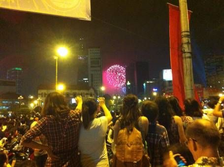 New Year's Eve Fireworks in Ho Chi Minh City
