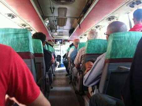 On board a Cambodian bus