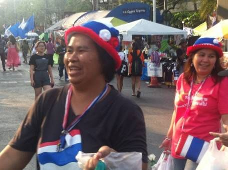 Thai Woman at the Bangkok Protests in 2014