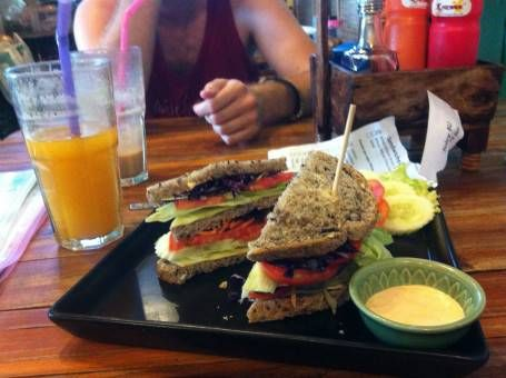 Sandwich at Juicy for You Cafe in Chiang Mai