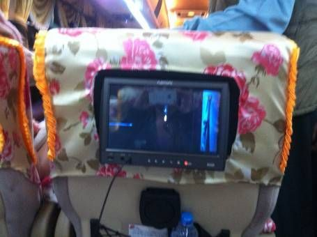 Our personal TV on the bus
