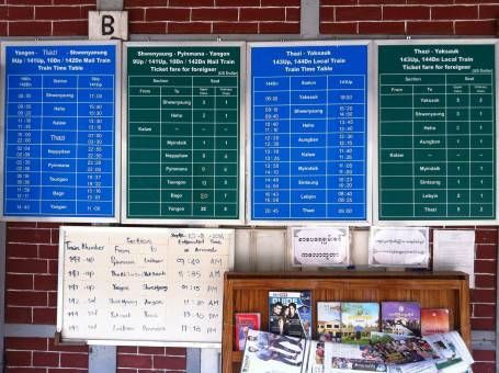 Train timetable Kalaw to Shwenyaung