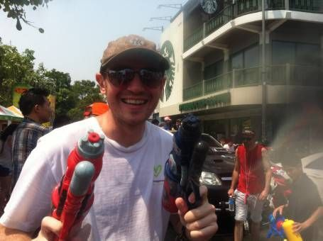 Andrew Celebrating Songkran in Chiang Mai
