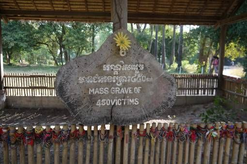 Mass Grave at the Killing Fields in Cambodia