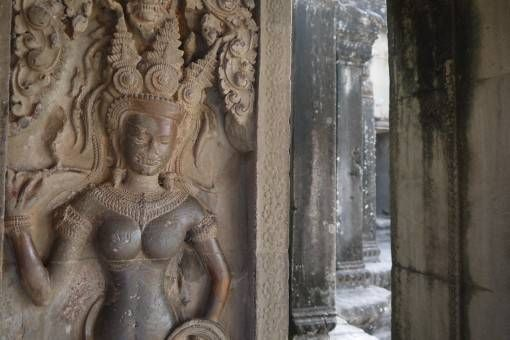 Wall Carving at Angkor Wat Temple