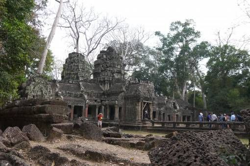 View of Ta Prohm Temple in Cambodia
