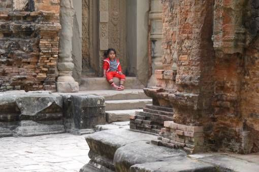Child at Preah Ko Temple, Cambodia