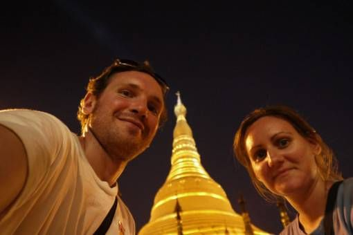 Us at Shwedagon Pagoda, Yangon