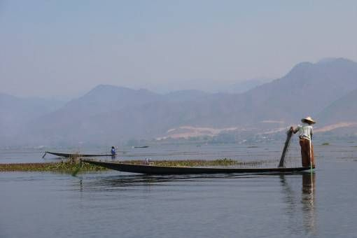 Local working on Lake Inle