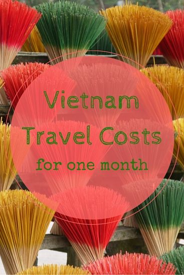 Vietnam Travel Costs for one month