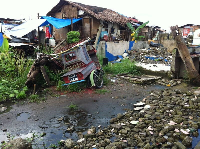 A Trike in The Rubble of Typhoon Haiyan