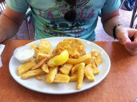 Fishcake & Chips from Rock and Sole Plaice, London