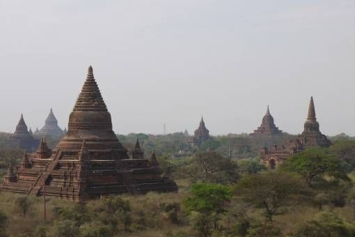 Pagodas in Bagan, Burma