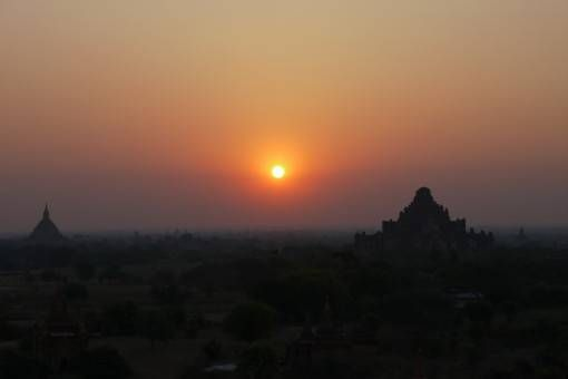 Sunrise in Bagan, Burma
