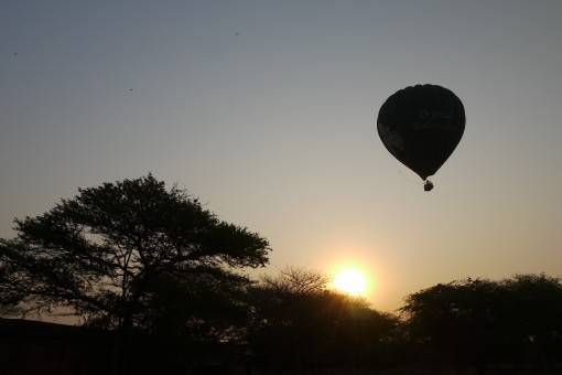 Hot Air Balloon at Sunrise in Bagan, Burma