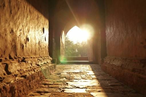 Sunlight in a Temple in Bagan, Burma
