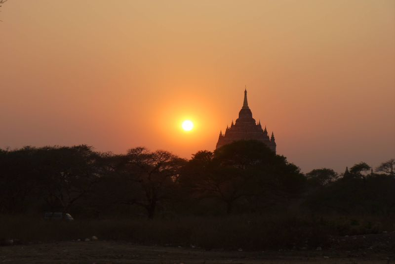 Sunset in Bagan, Burma