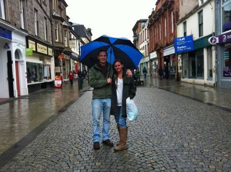 Us in Fort William, Scotland